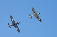 Hurricane and spitfire - Rhyl Air Show 2014